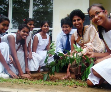 Tree Planting on World Environment day at Ladies' College Colombo by Mrs.Eesha Speldewinde and Environment Team
